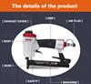 ce manufacturer stapler gun with aluminum alloy body loading 100 staples