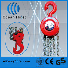 High effciency and small hand pulling chain pulley hoist