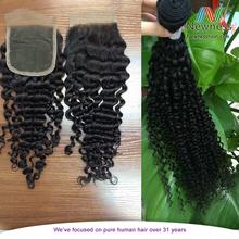 Cheap wholesale factory price brazilian vigin 3 way part silk lace closure