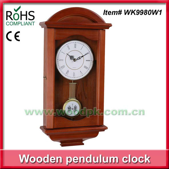 Relojes de madera antiguos classy de la pared del p ndulo for Relojes de pared antiguos de pendulo