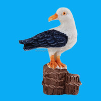 hand painted standing decorative resin seagull for sale
