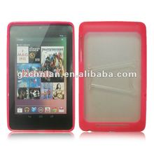 For Google nexus 7 soft tpu gel cover case,with holder design,many color to choose,accept paypal