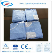 Surgical gown with SMS reinforced for operation and passed the CE&ISO13485 test