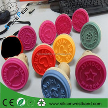 Decorative custom rubber Handle Cake Stamp/Homemade Cookie Silicone Stamp