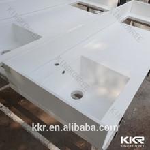 Kkr calidad superior de piedra artificial home depot una sola pieza de baño fregadero y encimera