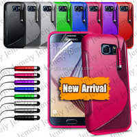 Wholesale Case For Samsung Galaxy S6 SM-G920F S-line Grip Soft TPU Rubber Silicone Gel Case Cover Mobile Phone Case