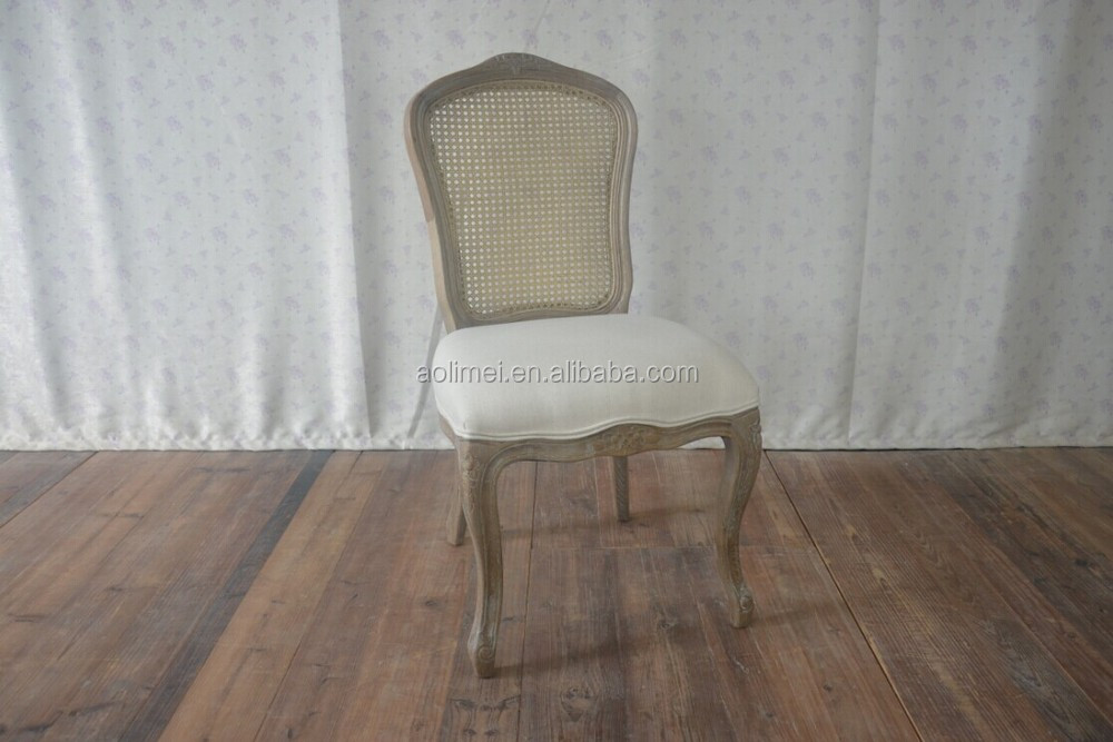 French Country Rattan Back Dining Chair View French