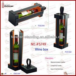 leather wine holder, wine bottle holder, wine pacakging