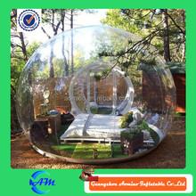 Inflável clara tenda bolha