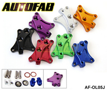 AUTOFAB - Oil Block Adapter For Nissan SR20DET S13 S14 S15 SR20DET Oil sandwich adapter Default color is Red AF-OL05J