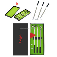 Golf Club Style Pens With Ball Set, Counters authentic golf gift pen set, Golf pen mini stadium suite
