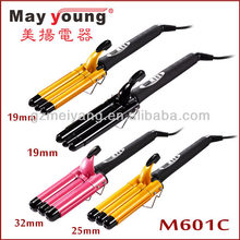 hot sell LCD 3 barrel triple wave hair curling iron