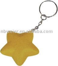 Yellow Stress Star Keyring