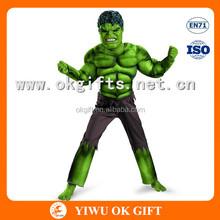 Avengers Hulk Costume Muscle Chest Shirt Mask Set