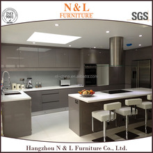 modern house modern lacquer glossy water resistant kitchen cabinet China