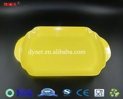 new design melamine tray / cheap plastic serving tray