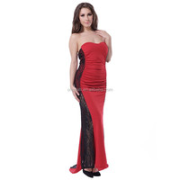 Accept dropshipping spanish styles sexy black and red evening dress