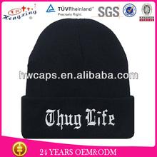Fashion winter cap custom design oversized knitted cap text beanie hat