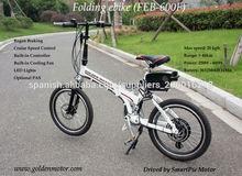 Mini 20 pulgadas plegable eléctrica / bicicleta de 36v 500w pequeño bicicleta eléctrica plegable