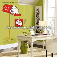 26B041 Lovely Design Mail Box with Dog Wall Sticker Clock for Kids Room