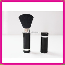 Natural retractable blush brush with black hair in stock