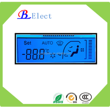 programmable lcd panel positive with blue backlight segment lcd display Air-conditiong system for car