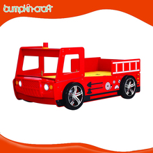 Cheap price MDF Fire engine car kid bed with sliding bed