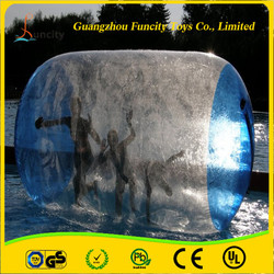 2015 hot sale 0.8/1.0mm thickness PVC/TPU fashionable colorful inflatable water roller, durable water wheel for fun