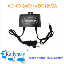 Modern&Switching Power Adaptor 12V, parts Rainproof Wide Voltage Input, with European&USA Plug for CCTV Camera