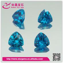 Hot selling trillion shape blue topaz cz loose stone