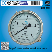 YBF100 lower back mount M20*1.5 4 Mpa pressure gauge movement ss304