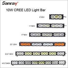 54 inch 300W LED driving work light bar amber+white lighting offroad truck SUV ATV 4WD 4X4 spot/flood/combo beam