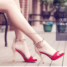 Women shoes New Fashion Spring Summer Leather Pointed Toe Thin Heels High Heel women Sandals