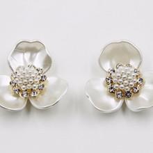 2015 fashion jewelry rhinestone 40mm acrylic pearl flower accessory for hair P02840