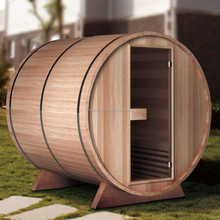 Waterproof Outdoor Garden Red Cedar Barrel Sauna Room (GT-KB002)