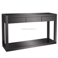 New products living room/lobby black mirrored console table