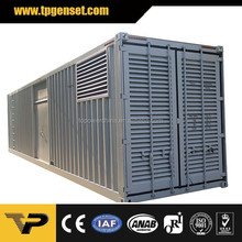 Silent Container type Three Phase 50HZ 1200kva diesel generator Powered by Perkins 4012-46TWG2A