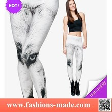 2015 Hot Leggings Print White Wolf