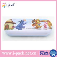 Funny children metal glasses box winnie pooh glasses case box for kids