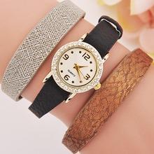 Wholesale yiwu item leather bracelet watch lady watch gift set