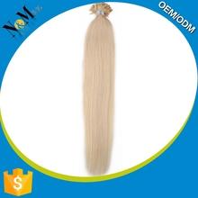 Silky Straight Wave cheap micro bead hair extension with 100% Human Hair