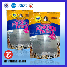 Hot selling bright color printing plastic pet food bag on sale