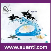 high quality Wholesale custom resin/crystal ocean dolphin statues