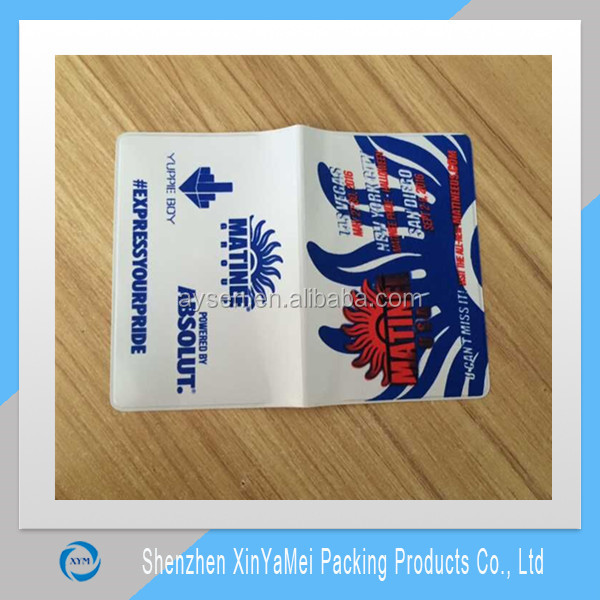 Factory plastic ticket holder, coupon holder, PVC lottery slip holder