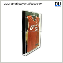 wall mounted acrylic jersey display case with lockable door