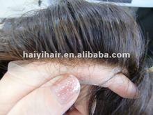 Natural look bleach knots front hairline lace toupee