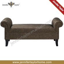 Jennifer Taylor roll arm bench antique sofa bench