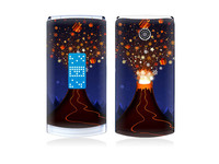 Volcano Vinyl Decal Screen Protector For LG Series, for GD580 sticker.