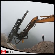 Excellent performer hydraulic drilling attachment for excavator with hammer drill