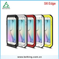 For Samsung S6 Edge Love Mei, Anti-shock Aluminum Protective Case For Samsung S6 Edge Love Mei